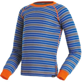 Regatta Elatus Baselayer Shirt Kids Oxford Blue Stripe